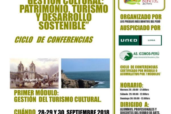 """GESTION CULTURAL: PATRIMONIO, TURISMO Y DESARROLLO SOSTENIBLE"""""""