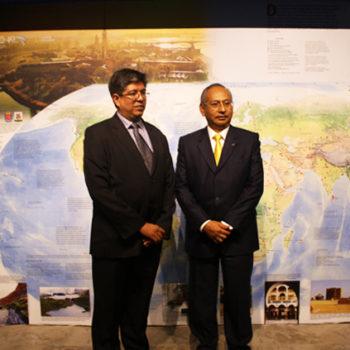 Héctor Reyes, ex Presidente del Directorio de Petroperú y Dr. Alberto Martorell, Presidente de ICOMOS Perú, y actual Gerente General de Los Pueblos Más Bonitos del Perú.