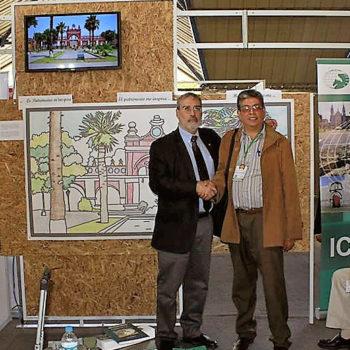 Durante su estancia en el ICCROM (Roma), Alberto Martorell acuñó una sólida amistad personal y profesional con el Dr. Joe King, Director de Sitios de la importante institución internacional. Es por eso que su reencuentro en Arequipa, durante la Asamblea General de la Organización de Ciudades Patrimonio Mundial, fue una ocasión muy gratificante.