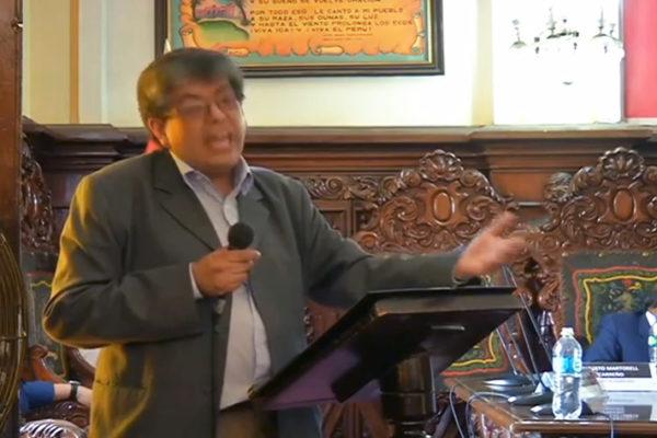 Dr Martorell en Audiencia Pública en Ica.